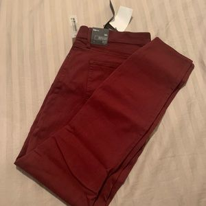Red / maroon GAP jeans NWT